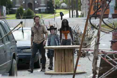 Walking Dead Rick Carl Michonne