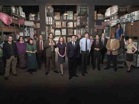 THE OFFICE -- Pictured: (l-r) Ed Helms as Andy Bernard, Phyllis Smith as Phyllis Lapin, Kate Flannery as Meredith Palmer, Craig Robinson as Darryl Philbin, Paul Lieberstein as Toby Flenderson, Rainn Wilson as Dwight Schrute, Jenna Fischer as Pam Beesly, Steve Carell as Michael Scott, Creed Bratton as Creed Bratton, John Krasinski as Jim Halpert, Oscar Nunez as Oscar Martinez, B.J. Novak as Ryan Howard, Brian Baumgartner as Kevin Malone, Leslie David Baker as Stanley Hudson, Mindy Kaling as Kelly Kapoor, Angela Kinsey as Angela Martin